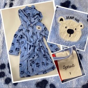 Sprout hooded dressing gown size 1 fluffy soft